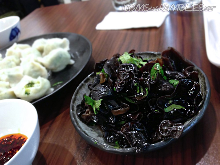 Black fungus tossed in aged vinegar, sesame oil and garlic