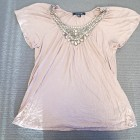 Dusky Pink Jewelled Top