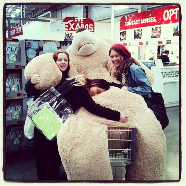 DAY 2 - #100happydays #yindilah #costco #giantteddy #friends #cute #babes #softtoy  #cuddles #sleepy #shopping (repost credit to @_southeast ) #100happyindienomdays