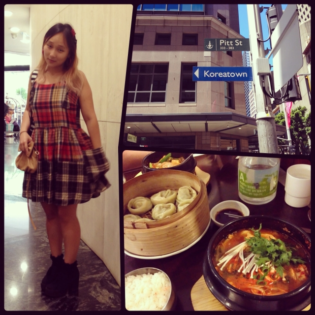 DAY 13 - #100happydays #100happydaysday13 #day13 - a #beautifulday in #Sydney today,  just the perfect strolling weather! #koreatown #koreanfood #kimchistew #mandu  #tartan #dress #tartandress #riverisland #ootd #wiwt #instafood #instafashion  #fashiondiaries #chunkycanvasshoes #pittstreetsydney #sydneycbd  #meritonservicedapartments #nomsandrambles #100happyindienomdays