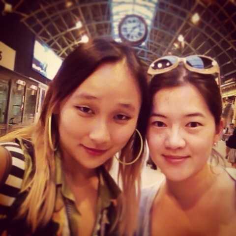 DAY 14 - #100happydays #100happydaysday14 long overdue #catchups with really  #oldfriends. Like, as in, we are #ancient! #Sydney #sydneycentralstation  #friendship #oldtimes #memories #reunion wishing @cherryb33 was here!