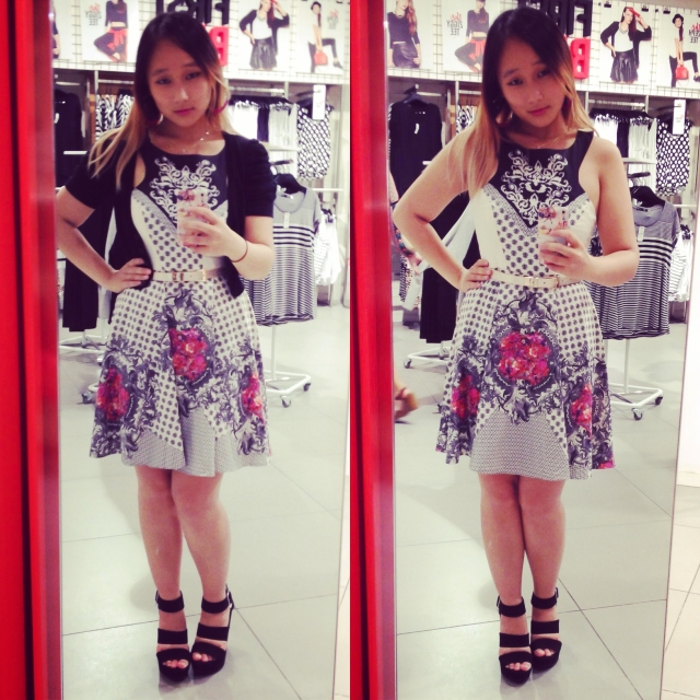 DAY 33 - #100happydays #100happydaysday33 #day33 taking #selfies while #shopping at  #Sportsgirl before #birthday #dinner at #Rockpool ! #GingerFizz #dress #asos  #tonybianco #wedgeheel #platformheel #strappyheels #sandals  #rockpoolmelbourne #ootd #ootd #wiwt #fashiondiaries #instafashion  #fashiondiaries #girl #100happyindienomdays