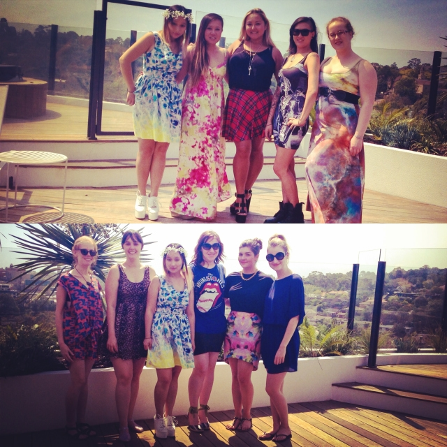 DAY 35 - #100happydays #100happydaysday35 #day35 It's my #birthday! And I had a  #summer #rooftop #party - it was a #gorgeousday #sunny #beautiful #friends  #babes #bmvic #blackmilk @blackmilkclothing #bmtartanskaterskirt  #bmgalaxypearlmaxidress #staffbymaff @staffbymaff_official #alligatorblouse  #balcony #richmond #abbotsford #view #nomsandrambles #100happyindienomdays