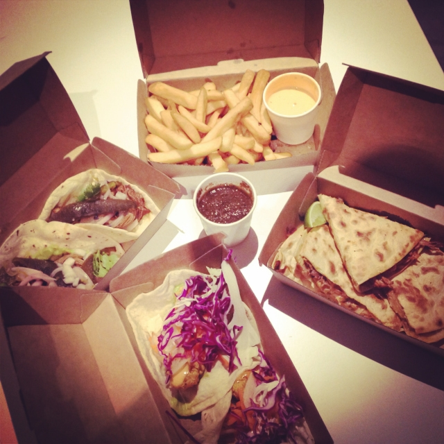 DAY 41 - #100happydays #100happydaysday41 #day41 #100happyindienomdays #mexican for  two from @fondamexican #tacos #fishtaco #pulledpork #quesadilla  #chipotlechips #salsa #fonda #braisedbeeftaco #chipotlemayo #foodporn #food  #foodie #instafood #wiat #fooddiaries #nomsandrambles