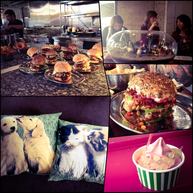 DAY 48 - #100happydays #100happydaysday48 #day48 #saturday #lunchdate #burgerdate  #burgers #brunswickstreet #fitzroymelbourne #melbournesummer #melbournefood  #brotherburger #veganburger #food #foodporn #instafood #fooddiaries #shopping #impulsebuy #cushions #puppies #kittens #cute #froyo #berrissimo #wildberry #poppingboba #nomsandrambles #bmvic #bmau