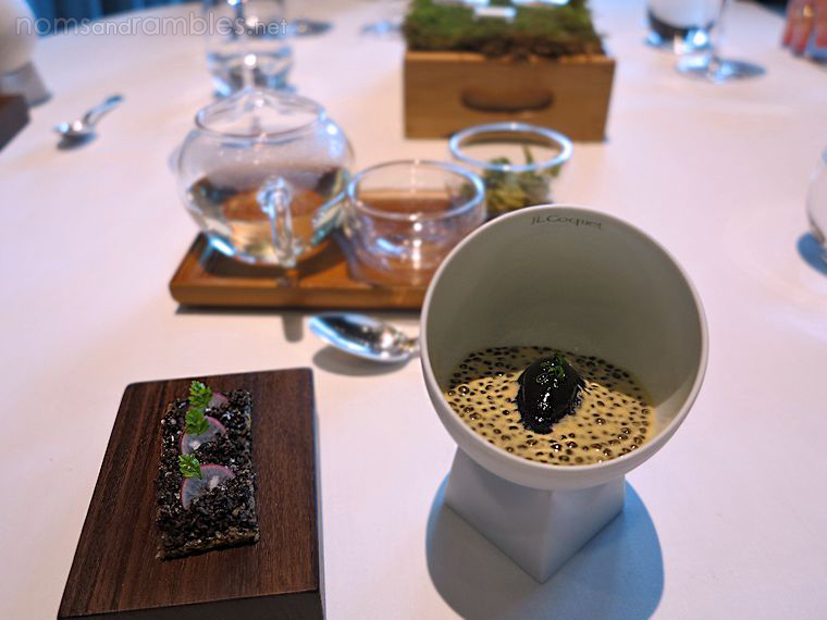 Walk through the forest - jelly of quail, marron cream, truffle toast