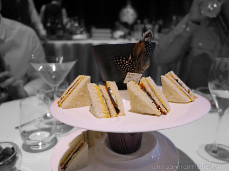 Mad Hatter's Tea Party - Sandwiches with bone marrow butter and black truffle and other stuff