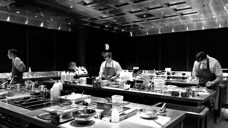 One of the kitchens of the Fat Duck Melbourne