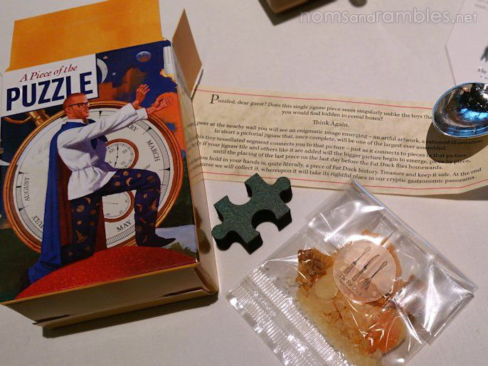 """Carrot and parsnip """"cereal"""" and my puzzle piece"""